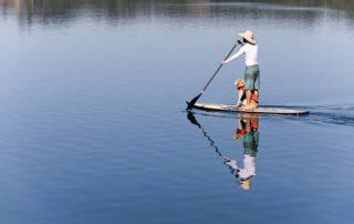 SUPping in Knysna Lagoon