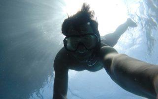 Snorkelling in Knysna lagoon